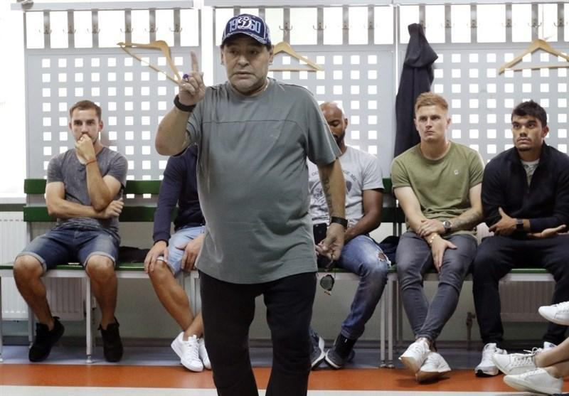 فعالیت همزمان مارادونا به عنوان رئیس باشگاه بلاروسی و سرمربی تیم مکزیکی