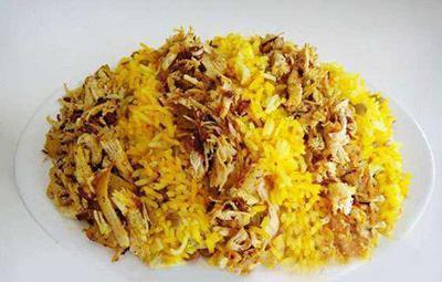 طرز تهیه عدس پلوی عربی با مرغ